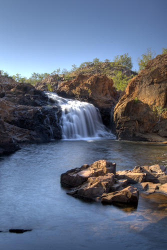 Leliyn\'s upper falls and swimming hole