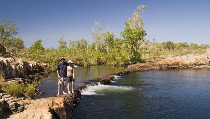 Sam and Lisa at Sweetwater Pool