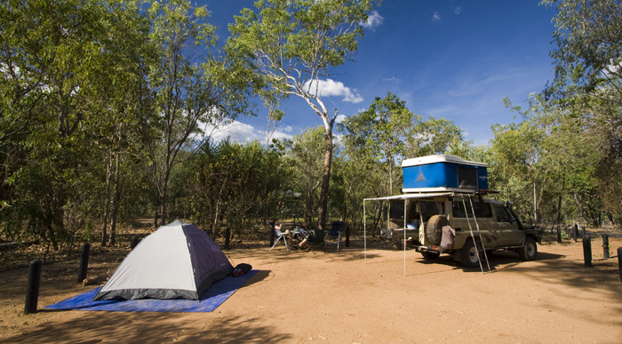 Our campsite at Wangi Falls