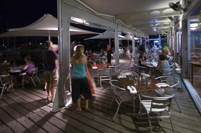 Dinner at Yots Greek Taverna on Cullen Bay Harbor