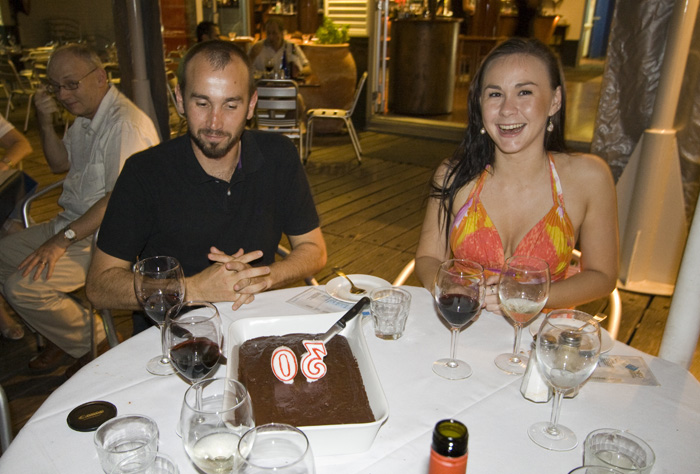 An early birthday celebration for Sam\'s 30th at Yots Greek Taverna