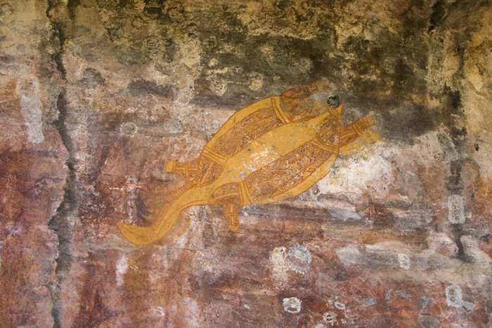 Aboriginal art at Ubirr