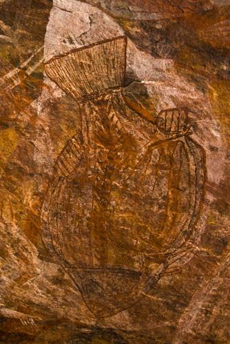Aboriginal art at Ubirr