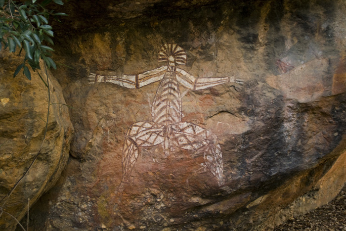 Aboriginal art at Anbangbang