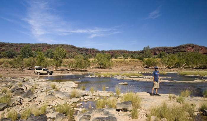 Our afternoon fishing spot on the Victoria River