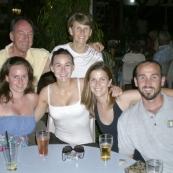 Margot, Bob, Cathy, Sophie, Lisa and Sam at the Darwin Sailing Club