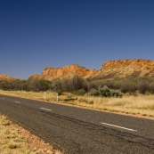 Larapinta Drive along the Macdonnell Ranges back into Alice Springs