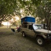 Our campsite at Territory Manor in Mataranka