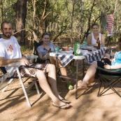 Sam, Sophie, Lisa and Margot at Wangi Falls