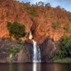 Wangi Falls in the sunset
