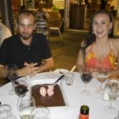 An early birthday celebration for Sam\'s 30th at Yots Greek Taverna