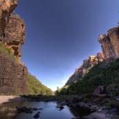 The gorge at Jim Jim Falls