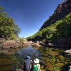 Sam and Lisa admiring the gorge at Jim Jim Falls