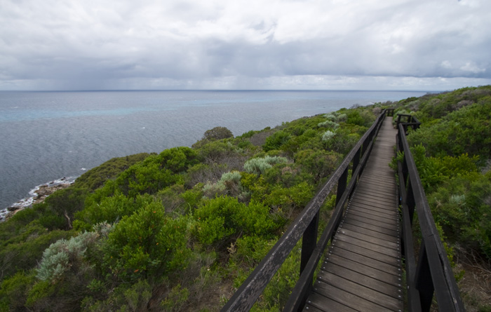 The whale watching platform at Cape Naturaliste