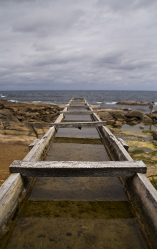 The channel to the old water wheel at Cape Leeuwin