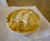 Kangaroo pie for morning tea at the Bindoon Bakehouse