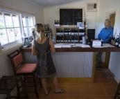 Lisa in Harris Organic Wines tasting room