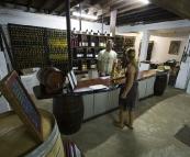 In the underground cellar of John Kosovich Winery