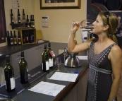 Lisa tasting at Jane Brook Estate Wines
