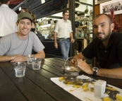Grabbing a coffee in one of the plethora of coffee shops in Fremantle