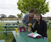Sergey and Lisa at Bootleg Brewing Company
