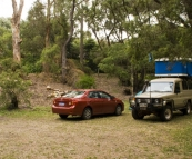 Our campsite on the coast at Prevelly