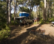 Our campsite at Chapman Pool in Blackwood Conservation Park