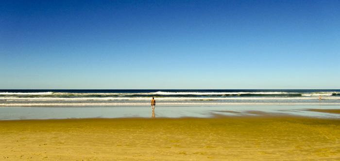 Chris at a picturesque Coolum Beach