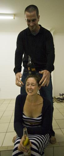Sarah demonstrating her circus trick