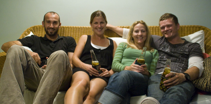 Sam, Lisa, Cheryl and Chris in Coolum