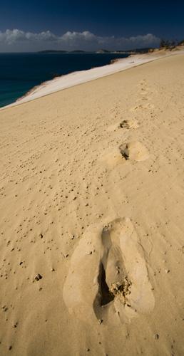 Carlo Sand Blow at Rainbow Beach