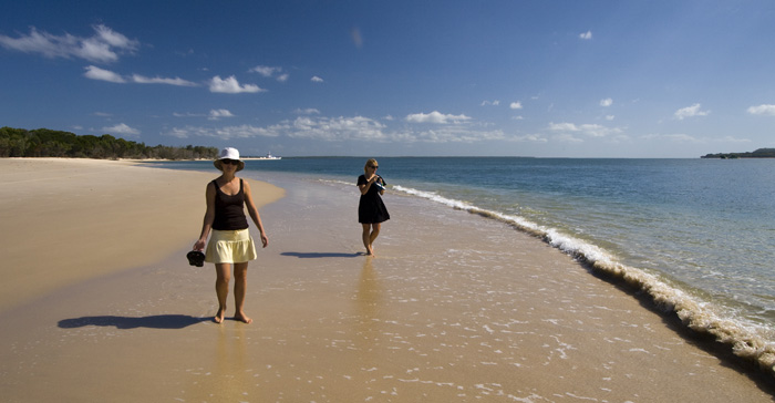 Cheryl and Lisa on the beach at Inskip