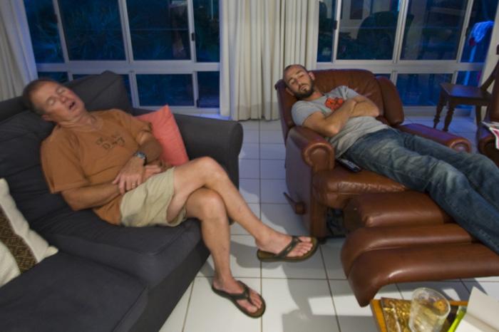 Randy and Sam napping at Coolum