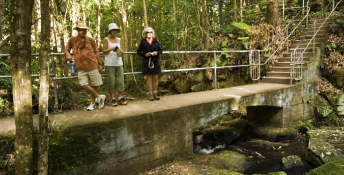 Randy, Gail and Lisa at Picnic Creek Falls