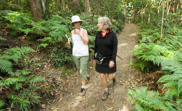 Gail and Lisa on the Kondalilla Falls Circuit
