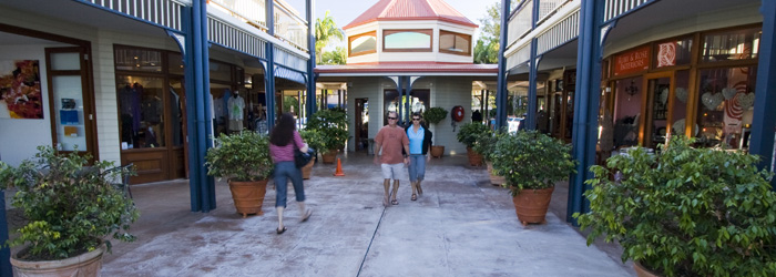 Quaint storefronts in Montville