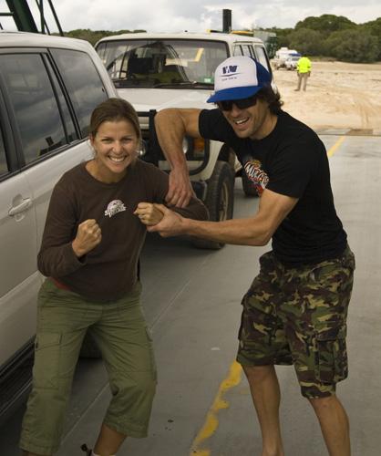 Lisa and Chris on the Manta Ray