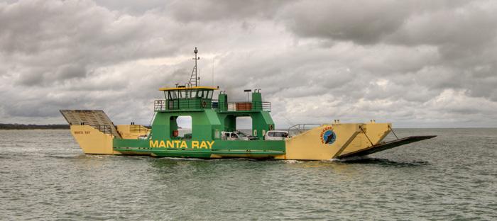 The Manta Ray barge
