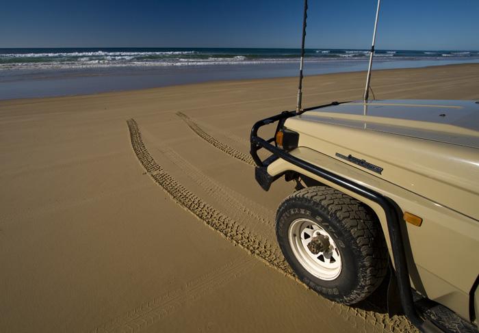 Fraser Island's eastern beach
