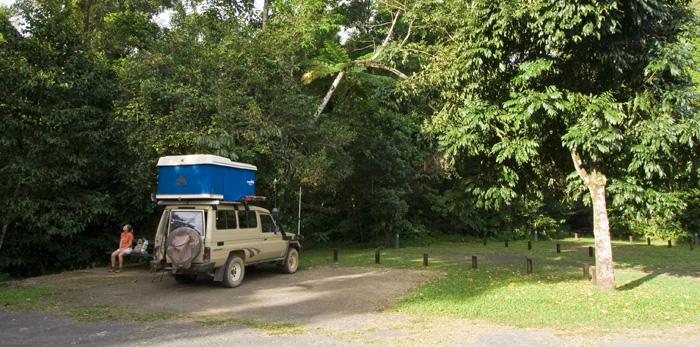 Camping alongside Henrietta Creek