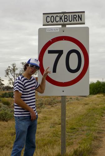 Chris on his way through central Australia