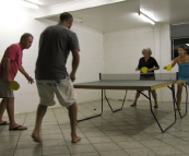 A night of table tennis in Coolum