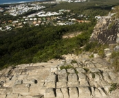 The path down Mount Coolum