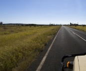 Through the open expanses on the way back to the coast from Emerald