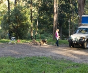 Camping at The Diggings alongside Broken River