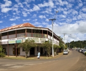 Panoramic of the main street in Malanda