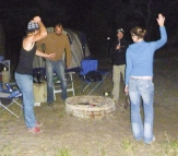 Dancing the fire ring at Waddy Point