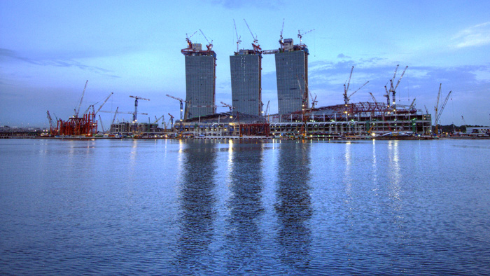 The MGM Grand Singapore under construction