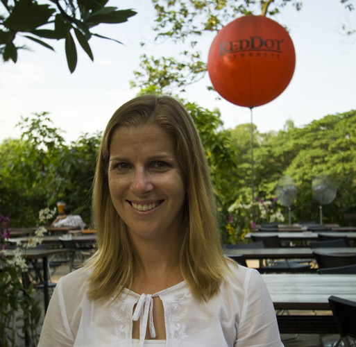 Lisa at the Red Dot Brewhouse