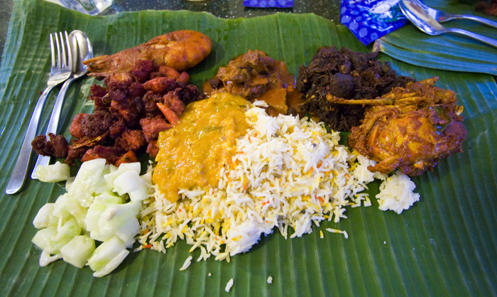 Scrumptious Indian food at Samy's Curry